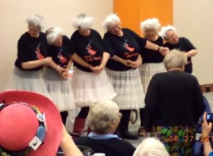 Victoria Grannies dancing Swan Lake