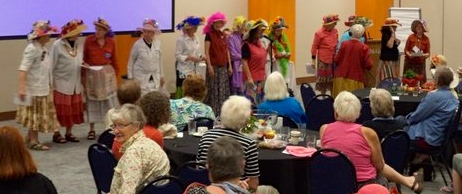 Raging Grannies doing what Raging Grannies do