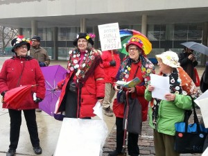 Toronto Raging Grannies at C-51 protest11045450_822816671105084_8177448005353429772_n